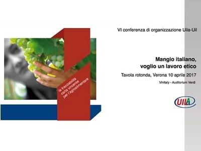 A Vinitaly tavola rotonda Uila-Coldiretti-Federalimentare su tracciabilità e lavoro etico